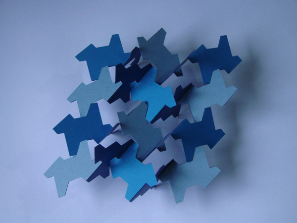 Tessellated kirigami sculptures