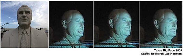How-To: Texas Big Face 3D projection