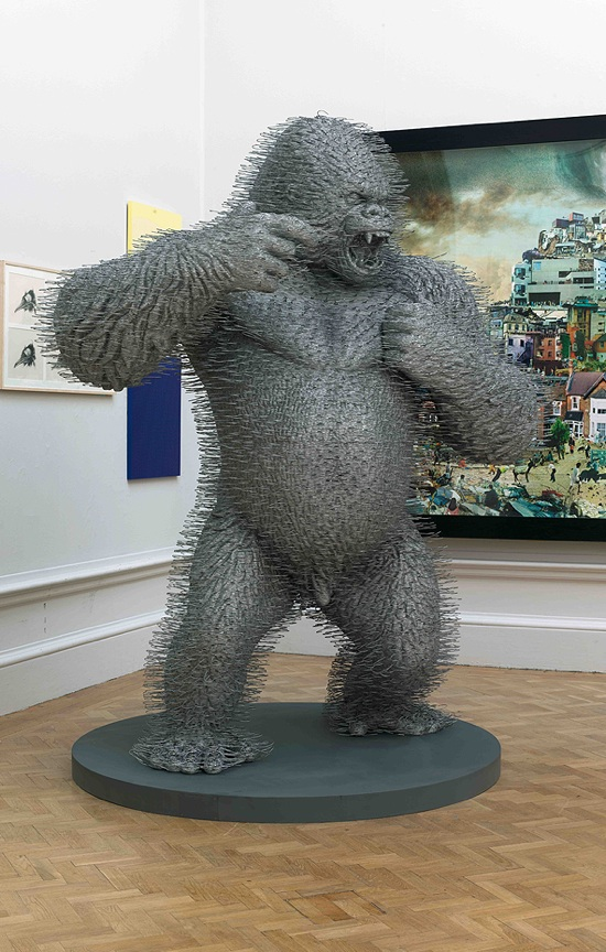 David Mach's incredible coat hanger gorilla