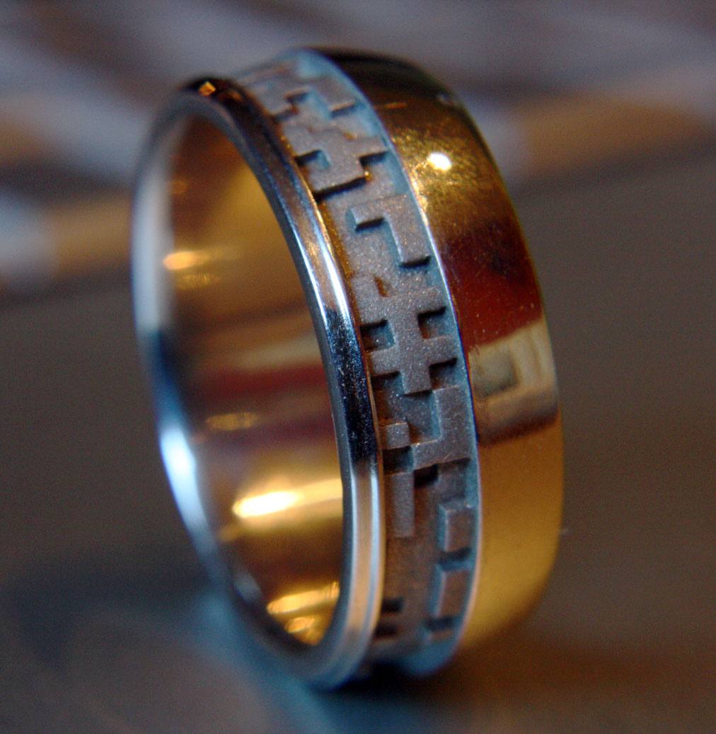 Binary wedding ring