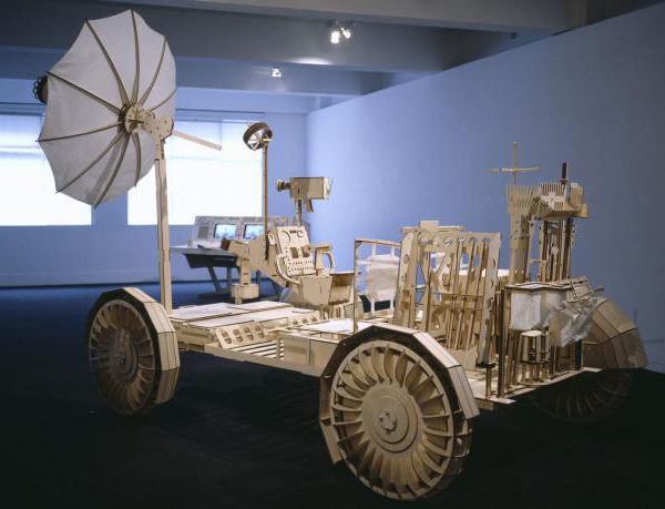 Peter Hennessey's 1:1 plywood space vehicles