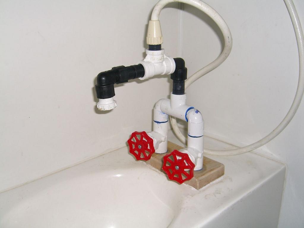 Homemade bath faucet / showerhead