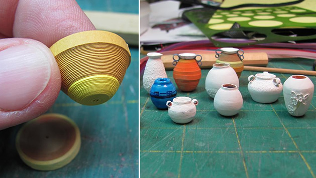 """How-To: Miniature Paper """"Pottery"""" Pieces"""