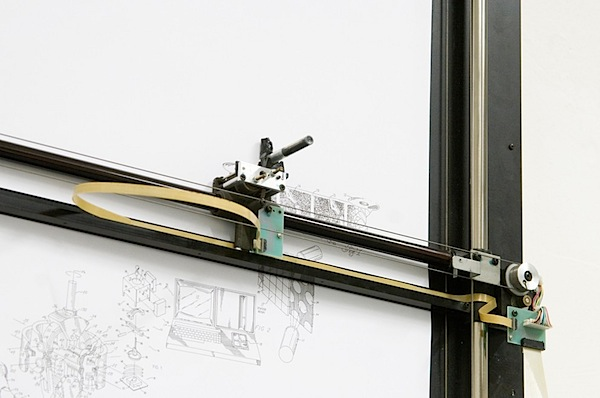 Drawing machine uses patents to tell stories