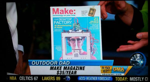 MAKE Magazine featured on Good Morning America