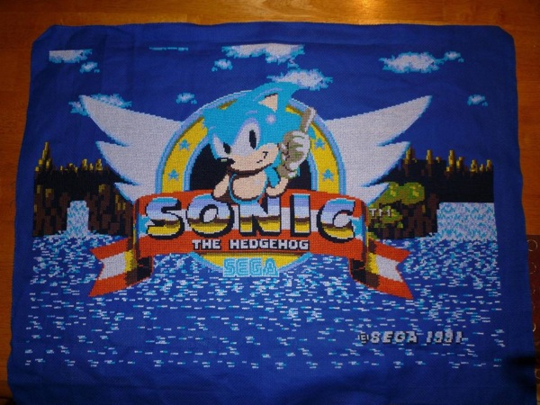 Amazing Sonic the Hedgehog cross stitch