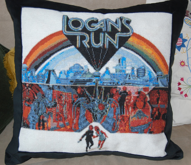Logan's Run Cross-Stitch Pillow