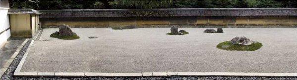 Visual structure of a zen rock garden