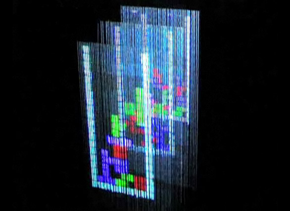 Play tetris on a 3D display made of water