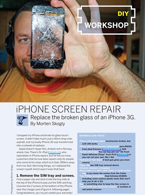 Weekend Project: iPhone Screen Repair (PDF)