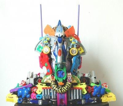 Plastic sculptures by Robert Bradford