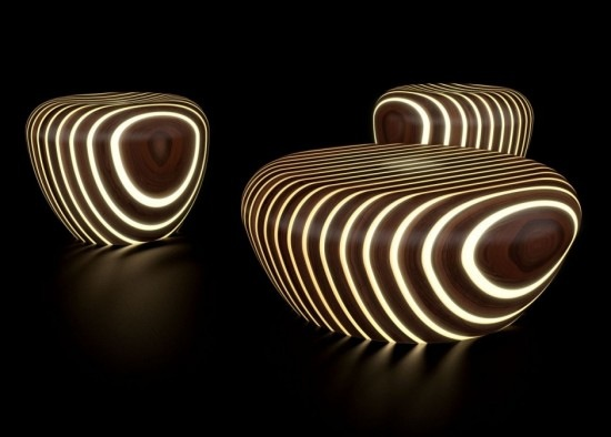 LED wood furniture