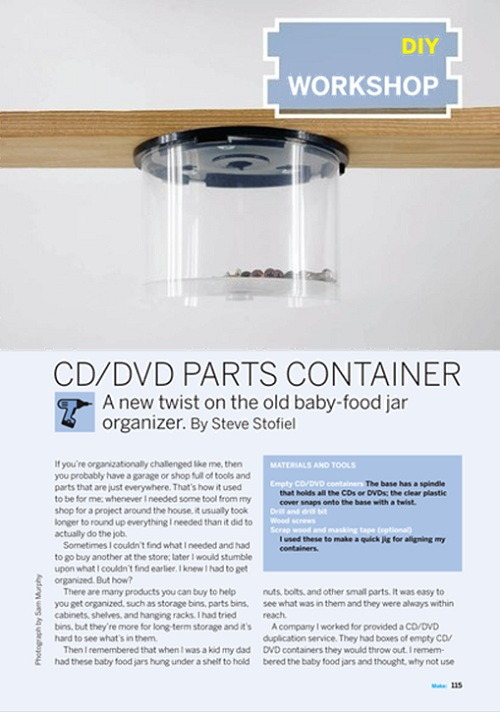 Weekend Project: CD/DVD Parts Container (PDF)