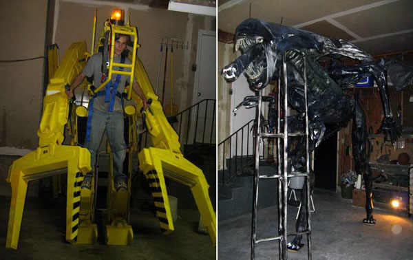 Homemade Aliens power loader and queen