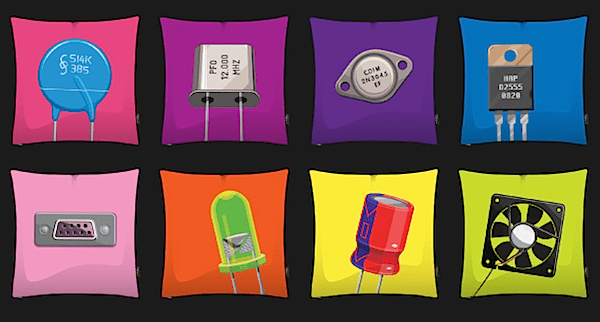 Electronic component pillow covers