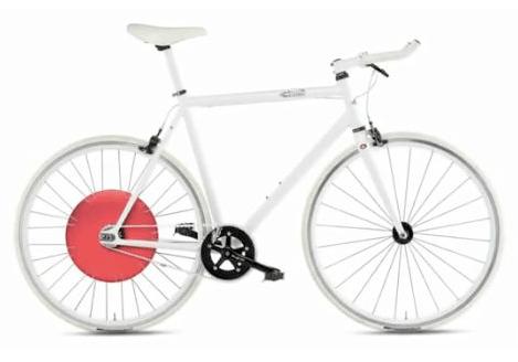 Christine Outram and her Copenhagen Wheel
