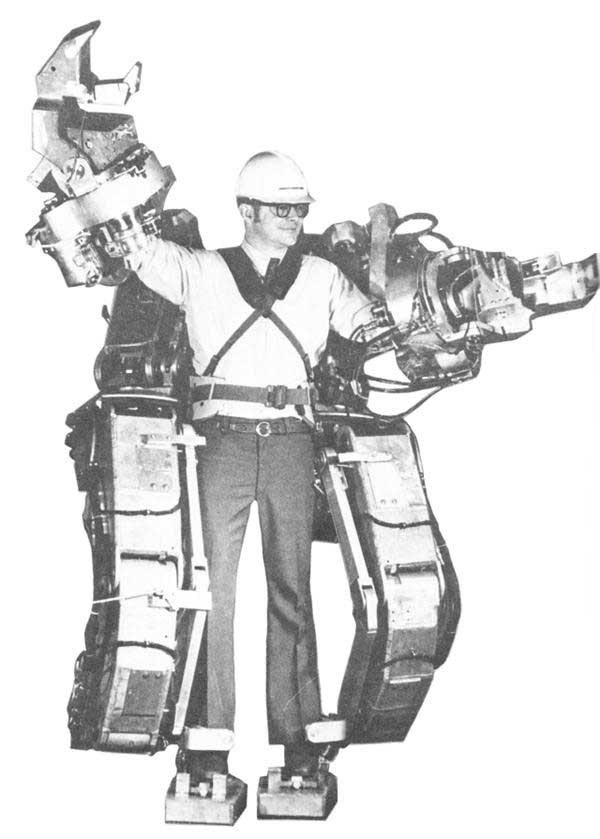 Sweet atomic age GE exoskeleton prototype