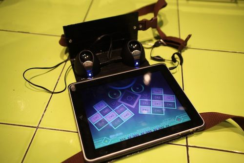 DIY iPad live performance harness
