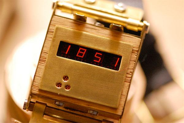 Handmade LED wristwatch