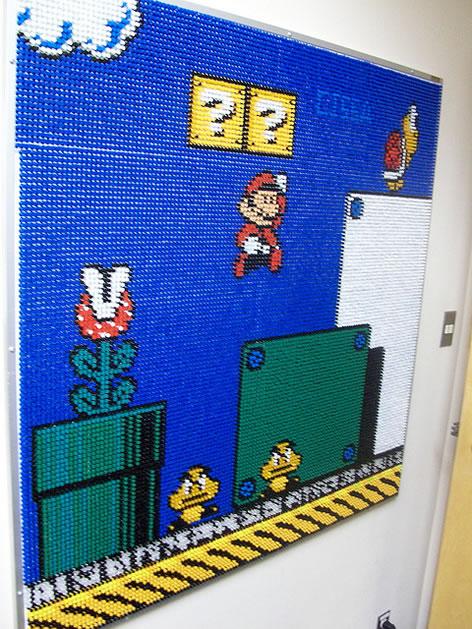 Pushpin Mario mural