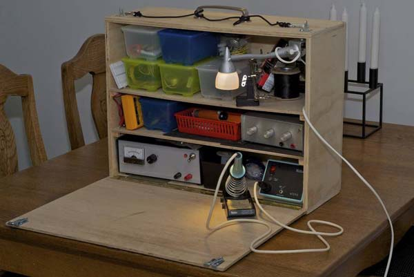 Portable electronics desk  Make