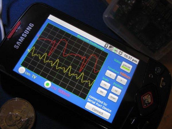 Android oscilloscope