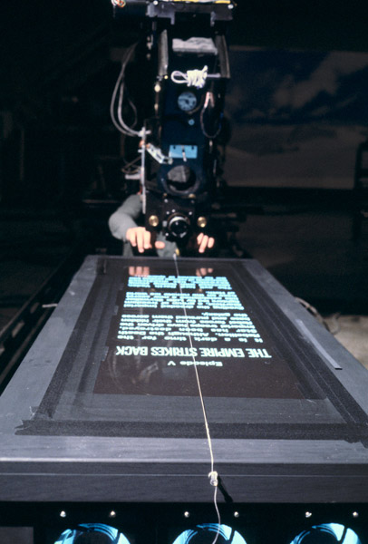 How they shot the opening crawl in Empire Strikes Back