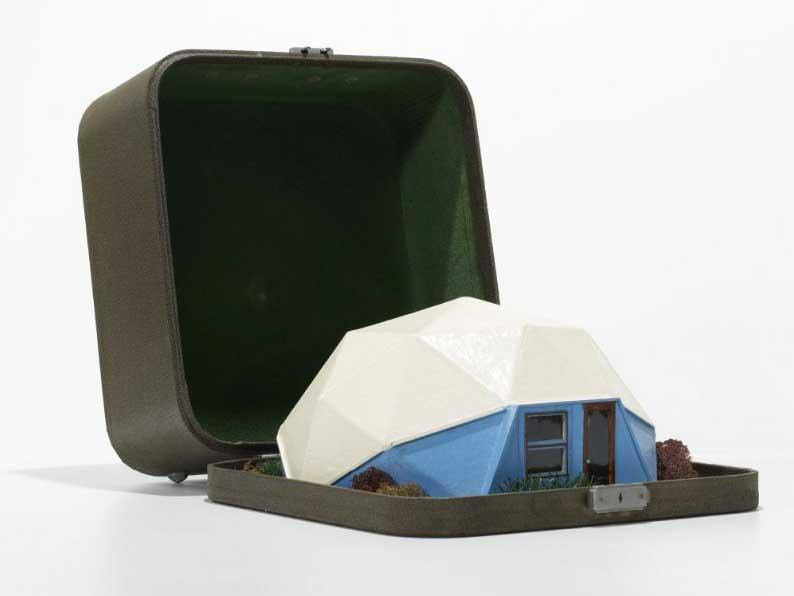 Original Bucky Fuller geodesic dome home sales model ca. 1960