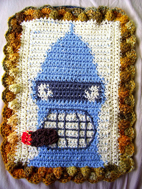 Futurama's Bender in Crochet