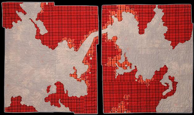 Leah Evans' Map Textiles