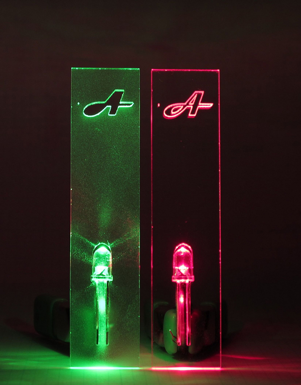 Embedding LEDs in plexiglas