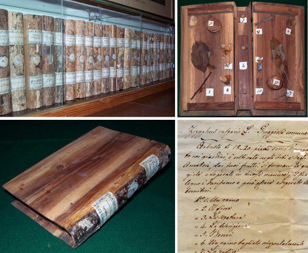 Wooden library, Italian-style