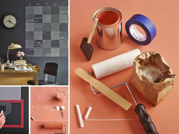 How-To:  Make your own chalkboard paint