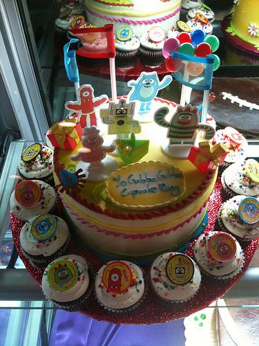 A Bakery's Cupcake Cake Take on Yo Gabba Gabba!
