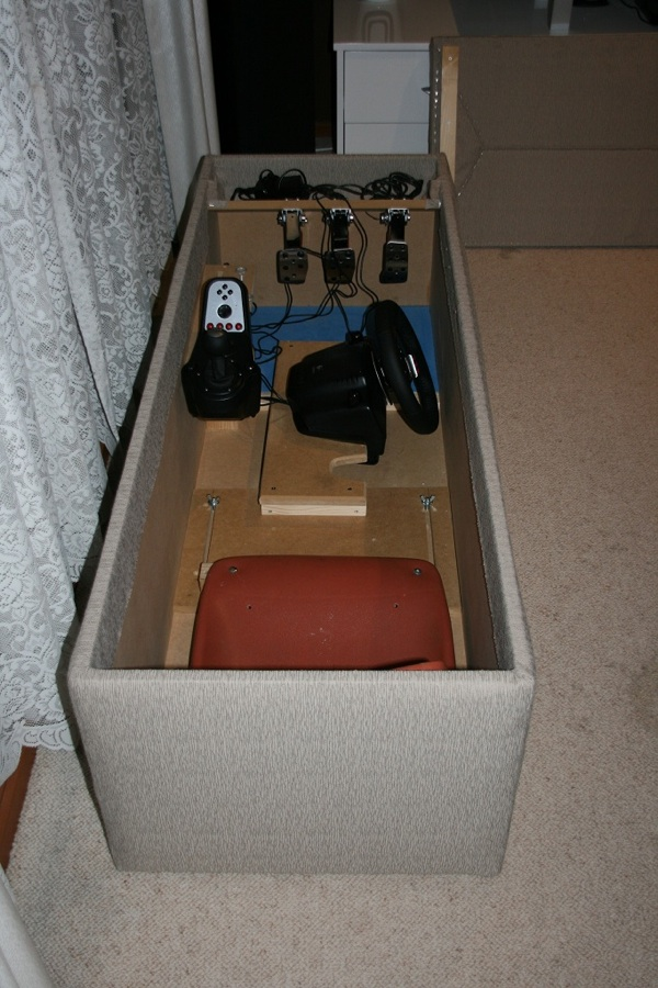 Game racing cockpit in an ottoman  Make