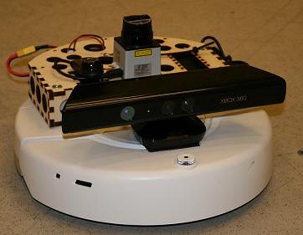 Hacked iRobot Create uses Xbox Kinect