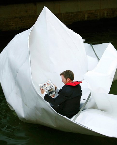 Floating in an Origami boat