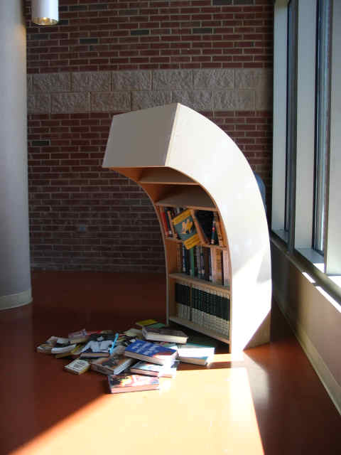 Sad bookshelf is sad…