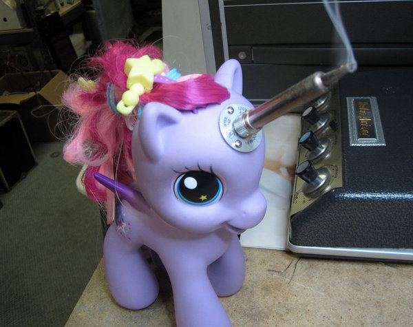 My Little Pony soldering unicorn