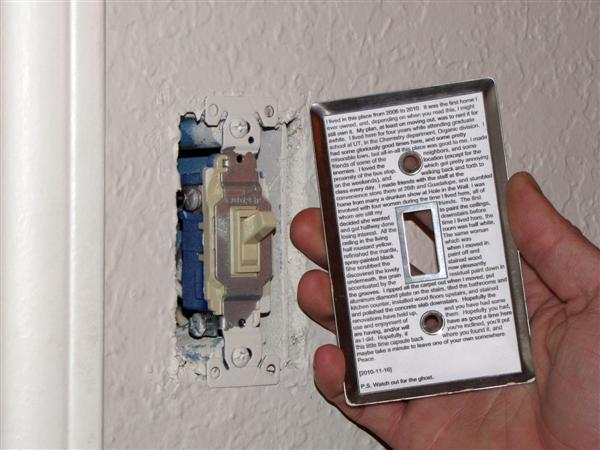Make: Projects – Light switch time capsule