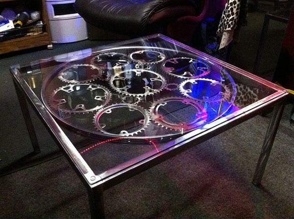 Bicycle chain ring tables