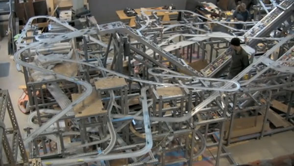 Ginormous mechanized die cast car track