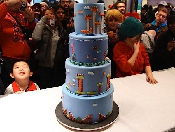Super Mario level cake