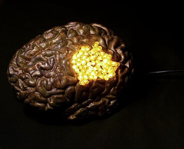 Incredible electronic bronze brain sculptures