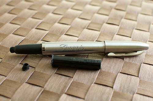 Stainless steel sharpie iPad stylus
