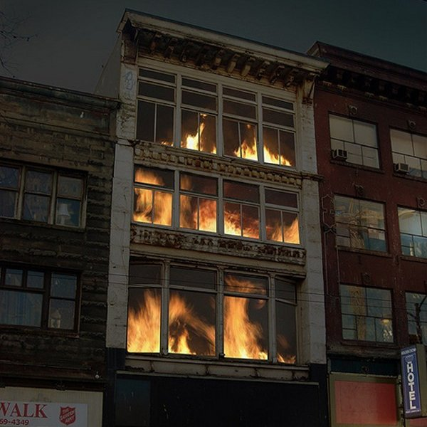 This building is not actually on fire