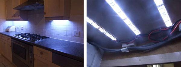 DIY under-cabinet LED lighting