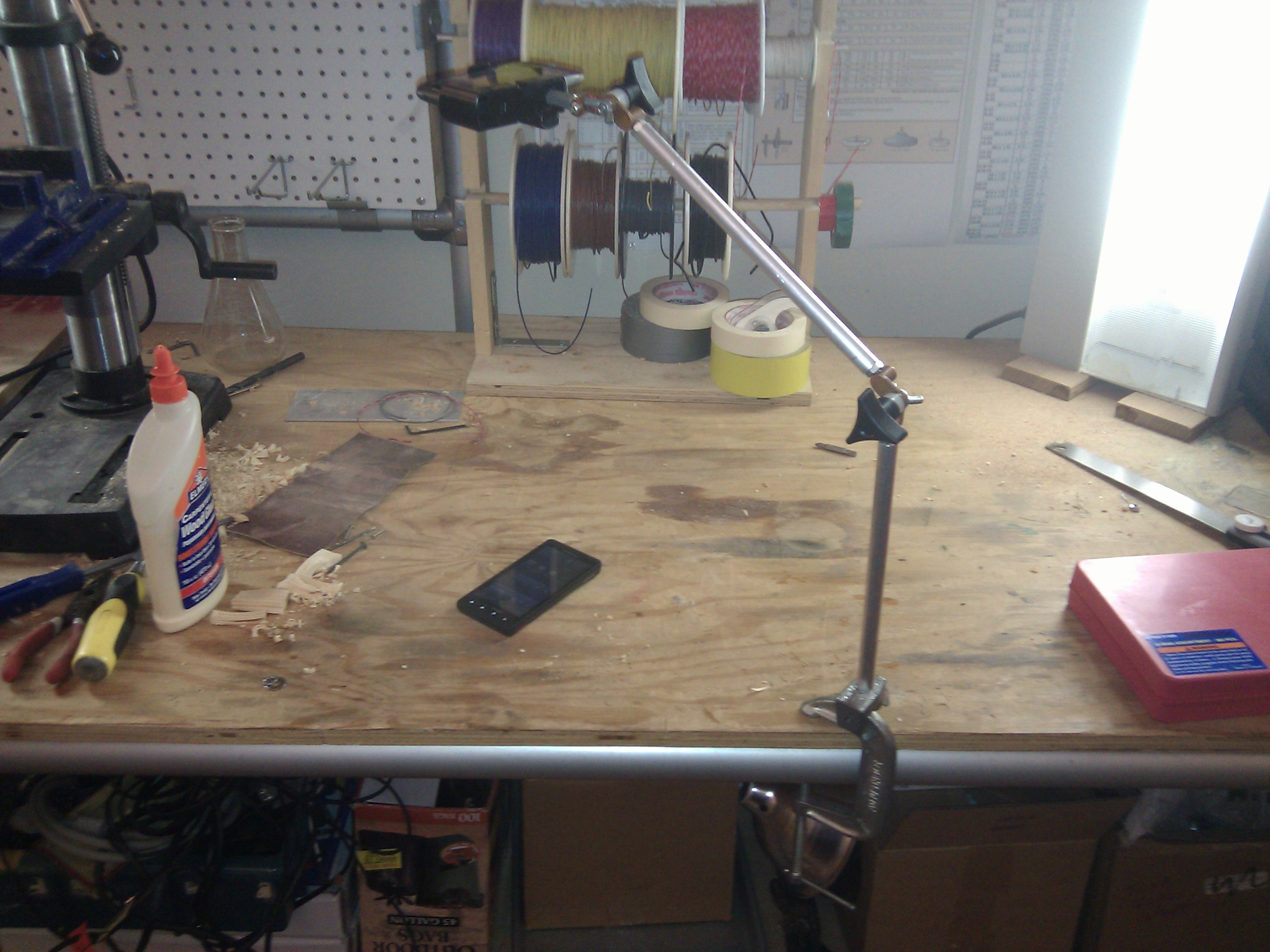 Mobile Document Camera Stand in Make: Projects