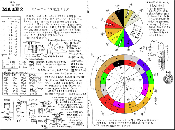 Resistor Value Color Computer Wheel, Japanese Version