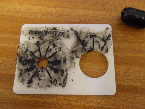 Engraved Plastic + Black Crayon = High Contrast Panels